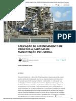 (5) Aplicação de Gerenciamento de Projetos a Paradas de Manutenção Industrial. _ Linkedin