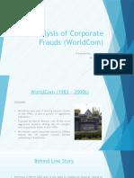 Analysis of Corporate Frauds (WorldCom)