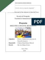 Proyecto Biblioteca Infantil Recreativa