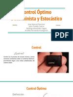 Control Óptimo Determinista y Estocástico