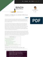 instalar y configurar un servidor dns linux