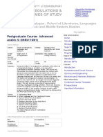 Course Catalogue - Adv G