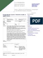 Course Catalogue - Intensive A a