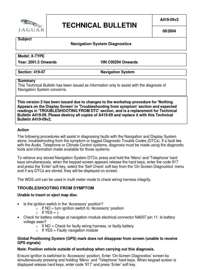 Jaguar x-type Navigation System Diagnostics | Electrical Connector |  Electrical Wiring