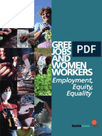 Green Jobs and Women workers. Employment, Equity, Equality. (Sustainlabour, 2009)