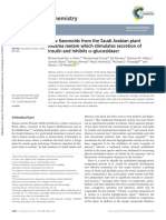 New Flavonoids From the Saudi Arabian Plant Retama Raetam Which Stimulates Secretion of Insulin and Inhibits Α-glucosidase