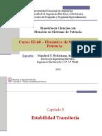 EE60 - Clase 6C - Estabilidad Transitoria - Integración Numérica 2019-I
