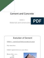 Unit 1 Cement and Concrete