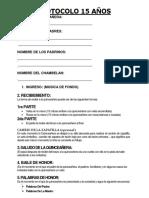 Protocolo de 15 Añera