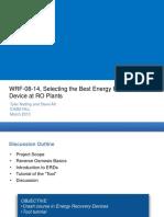 Energy Recovery Device WRF Webinar Presentation