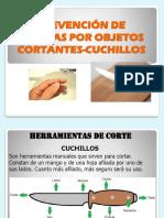 CHARLA USO DE CUCHILLOS