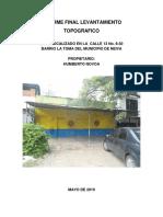 Informe Final Levantamiento Topografico