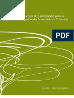 Mapa de Fuentes de Financiación para la Producción Agroforestal Sostenible en Colombia