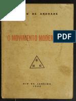 O movimento modernista Mário de Andrade