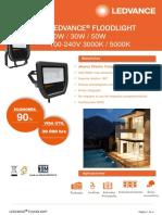 Data Sheet Ledvancer Floodlight 10w, 30w, 50w