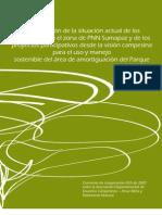 Los campesinos en el zona de Parque Sumapaz y su visión para el uso y manejo sostenible del área de amortiguación del Parque.
