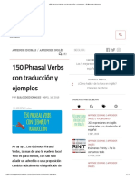 150 phrasal verbs with traduction and examples