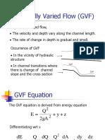 Gradually Varied Flow (GVF)
