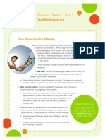 Spot Athletes and Skin Cancer