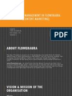 Strategic Management in FlowerAura- CONTENT MARKETING