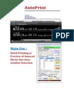 Auto Print Manual