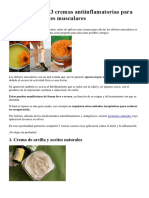 Creamas antiinflamatorias