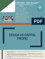 deuda vs capital propio