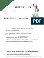 Sociedades Unipersonales Expo
