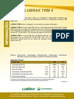 Tabela de lubrificantes para transmissão