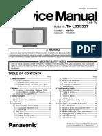 Panasonic Ch.km06v Th-l32c22t Service Manual