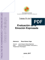 EVALUACION DE EMOCION ESPRESADA