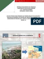 ESTUDIO TÉCNICO PARA PREDECIR LOS TIEMPOS REALES DE OCUPACIÓN Y TRASLADO DE MATERIAL