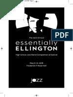 2018 Essentially Ellington Playbill Program