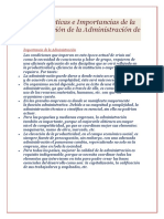 Características e Importancias de La Investigación de La Administración de Empresas