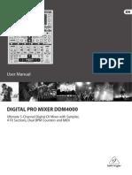 Behringer DDM 4000 User Manual
