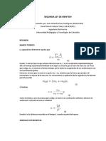 Segunda Ley de Newton uptc laobratorios fisica 1