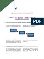 A BVM e Processo de Compra de Accoes Em Bolsa