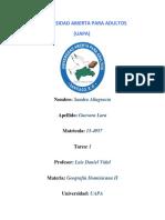 Tarea I Geografía Dominicana II