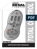Preprogrammed Universal control