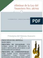 Titulo Preliminar de La Ley Del Sistema Financiero