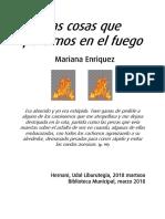 Las Cosas Que Perdimos en El Fuego