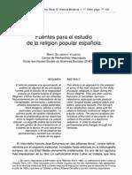 fuentes religiosidad moderna