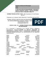 Normas Jurídicas de Nicaragua Instalacion de Tanques de Combustible