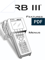 Manual DRB IIIr Features & Menus