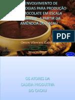 DESENVOLVIMENTO DE TECNOLOGIAS PARA PRODUÇÃO DE CHOCOLATE EMb
