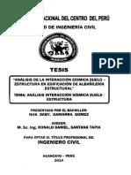 Analisis de La Interaccion Suelo-estructura en Edificacion de Albañileria