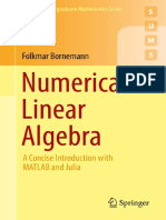 Numerical Linear Algebra. a Concise Introduction With MATLAB and Julia - Bornemann