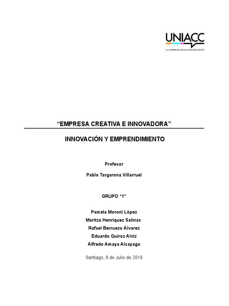 Trabajo Grupo 1innovacionyemprendimiento Innovación