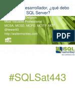 36873 Si Soy Un Desarrollador Que Debo Conocer de SQL Server