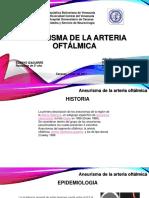 Aneurisma de Arteria Oftalmica